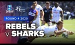 Rebels v Sharks Rd.4 2020 Super rugby video highlights