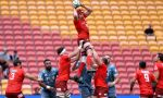 Ben Hyne of the Sunwolves competes at the lineout during the round seven Super Rugby match between the Sunwolves and the Crusaders at Suncorp Stadium
