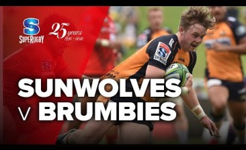 Sunwolves v Brumbies Rd.6 2020 Super rugby video highlights