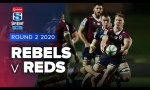Rebels v Reds Rd.2 2020 Super rugby AU video highlights