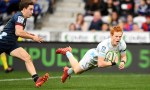 Finlay Christie starred for the Blues in 21-32 bonus-point win against Highlanders at Forsyth Barr Stadium, Dunedin to stay second on the Super Rugby Aotearoa table