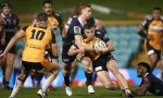 Reece Hodge grabbed a brace as the Melbourne Rebels battered the beleaguered Brumbies 30-7 in Super Rugby AU at Leichhardt Oval, Sydney.