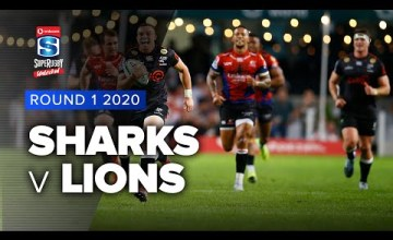 Sharks v Lions Rd.1 2020 Super rugby unlocked video highlights