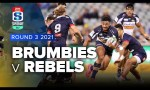 Brumbies v Rebels Rd.3 2021 Super rugby AU video highlights