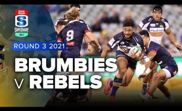 Brumbies v Rebels Rd.3 2021 Super rugby AU video highlights