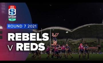 Rebels v Reds Rd.7 2021 Super rugby AU video highlights