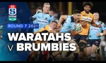 Waratahs v Brumbies Rd.7 2021 Super rugby AU video highlights
