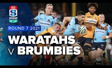 Waratahs v Brumbies Rd.7 2021 Super rugby AU video highlights