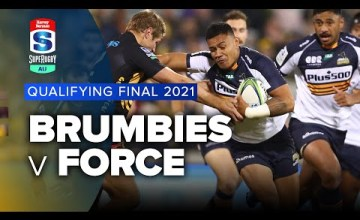 Brumbies v Force 2021 Super rugby AU Qualifying final video highlights