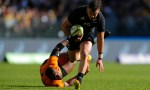 David Havili races away for another try as New Zealand beat Australia 38-21 at Optus Stadium, Perth
