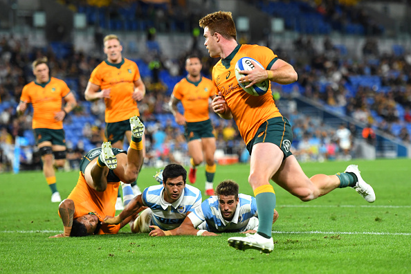 Andrew Kellaway scores a hat-trick against Argentina as Australia win 32-17 on Gold Coast, Queensland