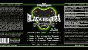Black Mamba HyperRush - Informação Nutricional