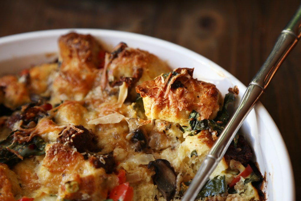 Savory Vegetable Strata - Supper With Michelle