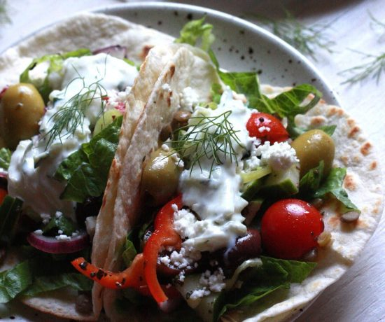 Vegetarian Greek Tacos