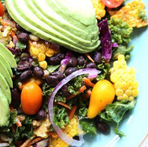 Southwestern Grilled Cob Kale Salad