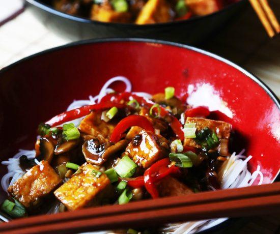 Tofu in Sweet Brown Sauce