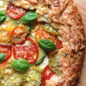 Heirloom Tomato and Avocado Galette
