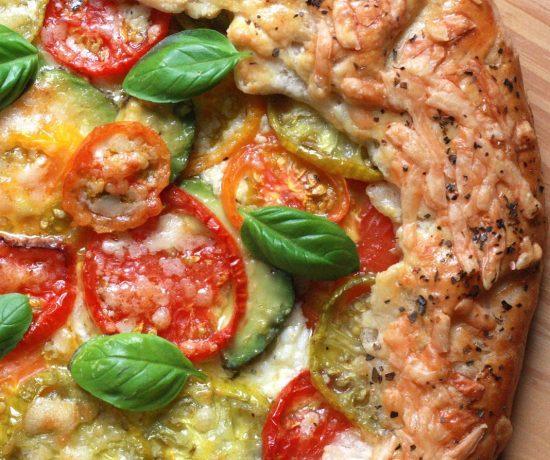 Heirloom Tomato and Avocado Galette