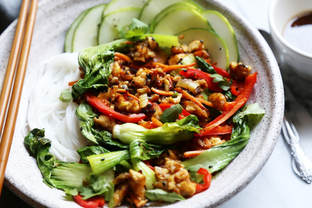 Spiced Tofu with Bok Choy - Supper With Michelle