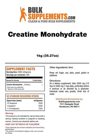 creatine monohydrate bulk supplements