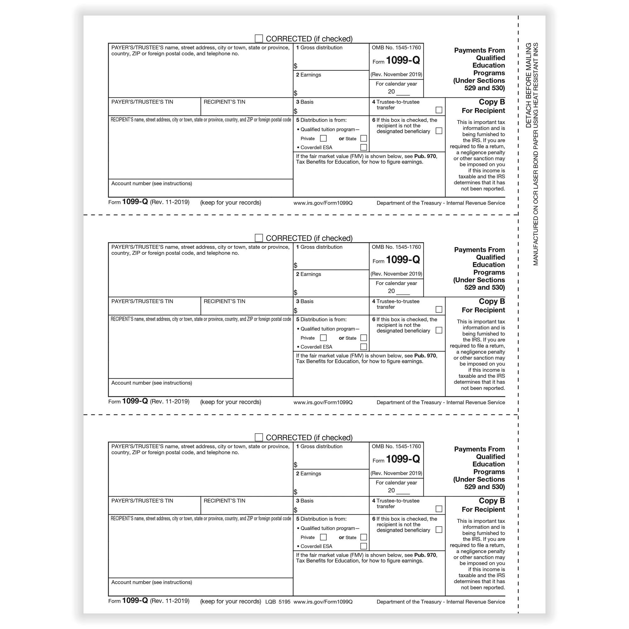 Q Qualified Tuition Payments Rec Copy B Cut Sheet