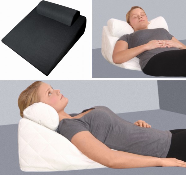 gel foam reflux wedge pillow reading pillows cushion with neck roll hardness 1 soft
