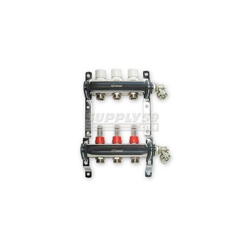 Stainless Steel Radiant Heat Manifold Set w/ 1/2″ PEX