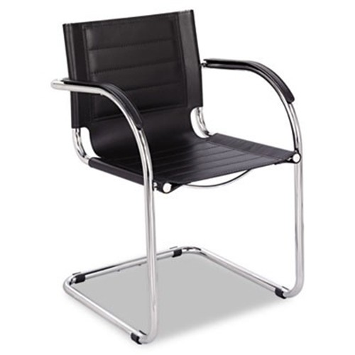 leather chrome chair mid century modern rocking canada safco 3457bl flaunt series guest black