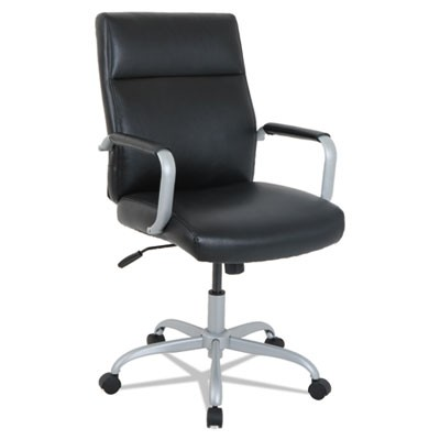 black leather office chair high back modern lounge chairs alera ka24119 seat 250lb capacity