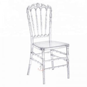 plastic chiavari chair shower with arms and wheels suppliers factory china resin clear crown sf rcc05