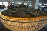 Luxury gold hotel project crystal chandelier pendant lamp