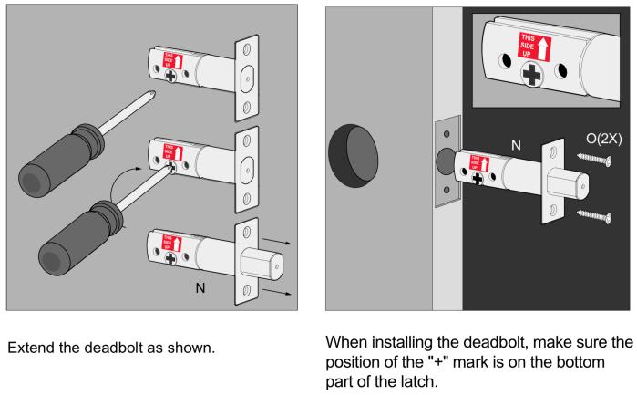 Lockly Smart Lock Deadbolt Extending the Deadbolt