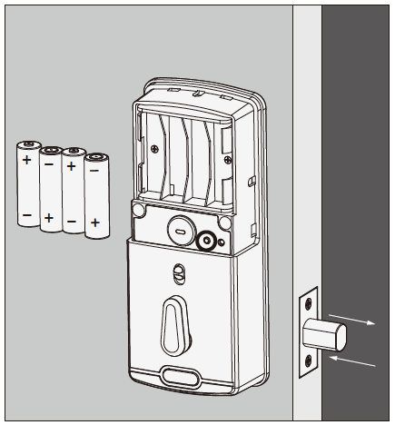 Lockly Smart Lock Installing Batteries