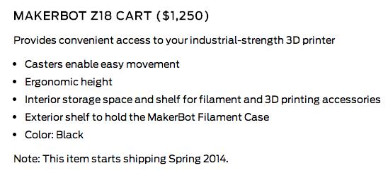 z18 cart detail