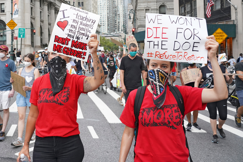 New York City Teachers Protest Start of In-Person Classes