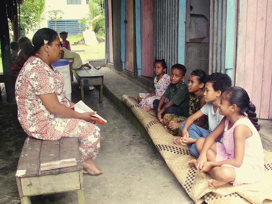 Children's Class in Fiji