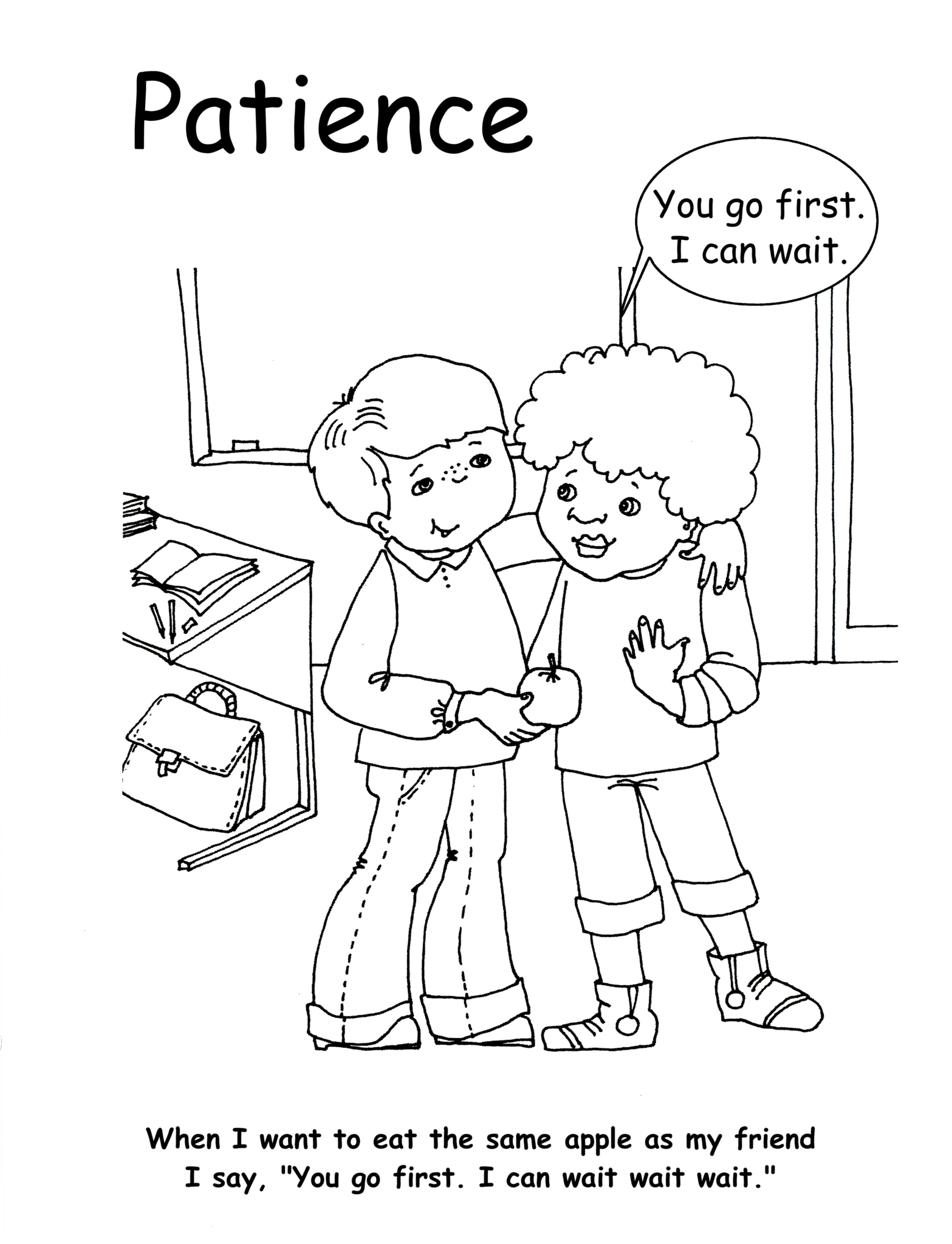 Patience Coloring Pages Coloring Pages