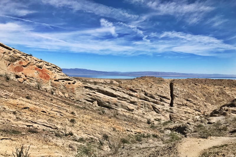 View Of The Salton Sea From The Calcite Mine Hike