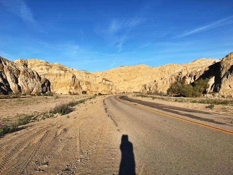 Road Walk Thru Mecca Hills WIlderness