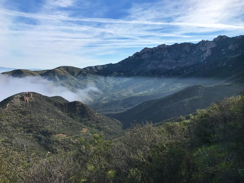 Marine Layer And Clouds From The Backbone Trail