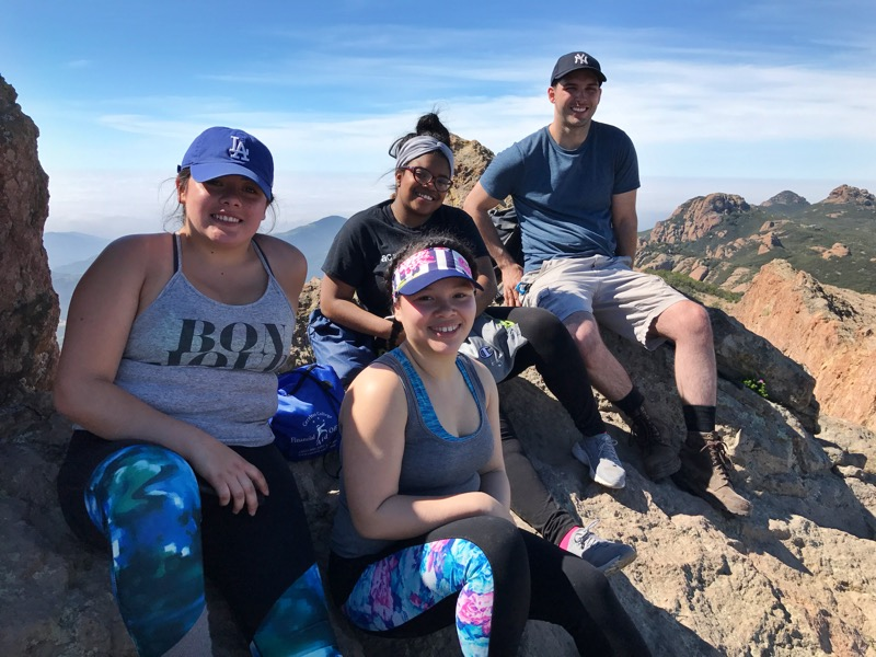 Melissa, Breana, Treona, And Anthony From Norwalk Enjoying A Successful Bag Of Sandstone Peak