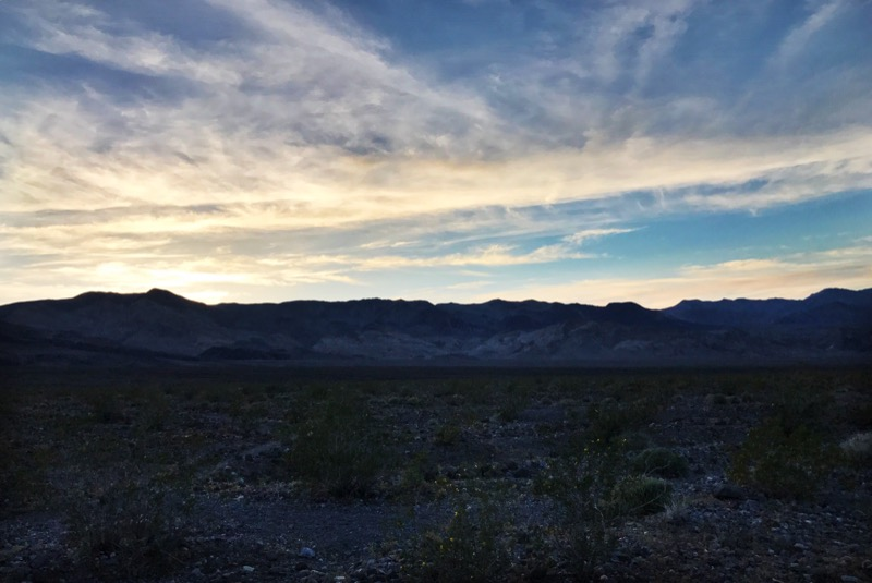 Sunset In Death Valley NP