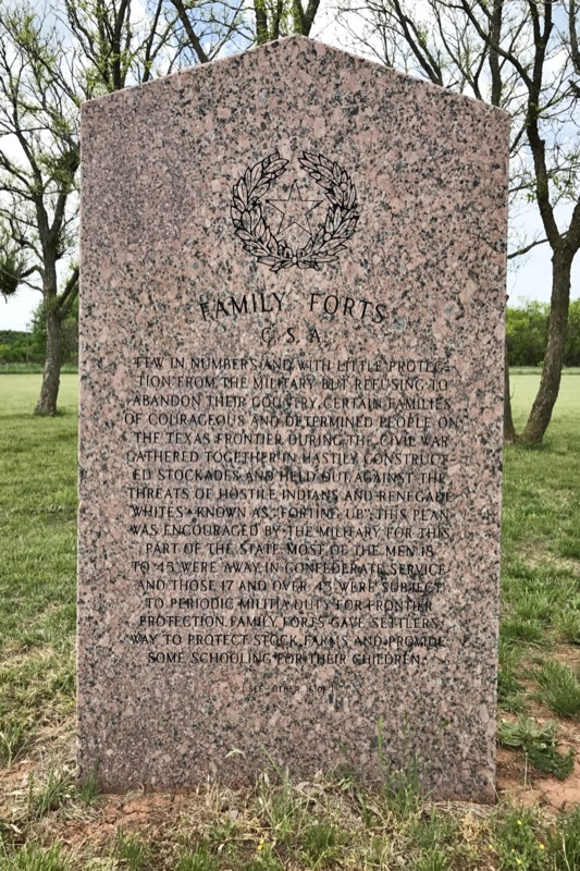 Confederate States Of America History Marker At Fort Griffin SHS Campground