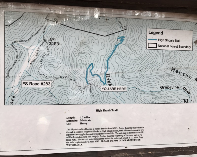 High Shoals Trailhead Map