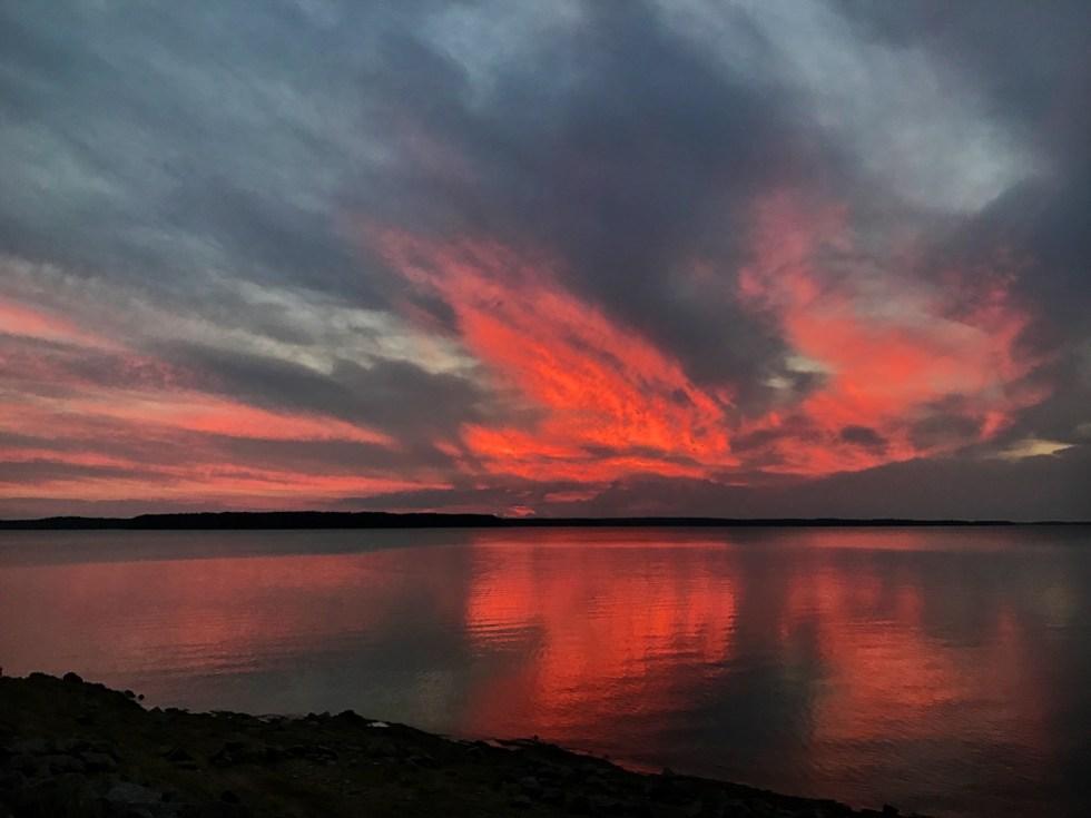 Sunset From Modoc CG At J. Strom Thurmond Dam & Lake