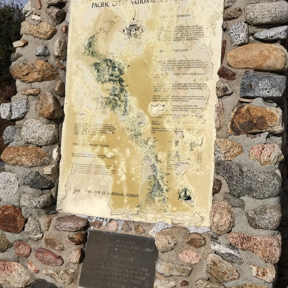 PCT Sign At Hwy 74 Trailhead In California Section B