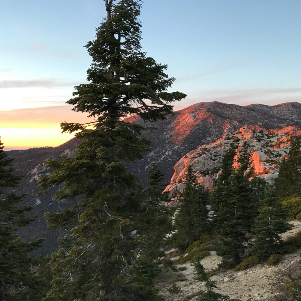 Alpenglow From Tahquitz Peak In California Section B