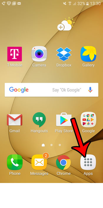 how to remove an app on the galaxy on5