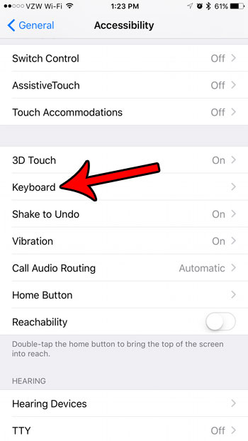 how to disable the lowercase keyboard on an iphone 7