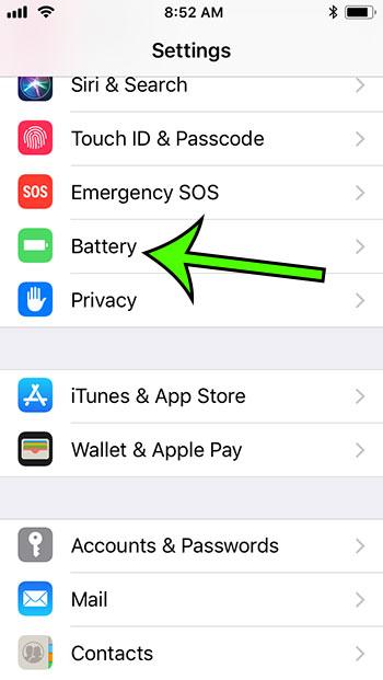 iphone 5c battery settings